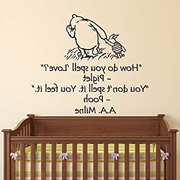 Most Popular Amazon : Wall Decals Nursery Winnie The Pooh How Do You Spell Pertaining To Winnie The Pooh Wall Art For Nursery (View 7 of 15)