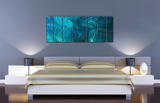 Most Popular Ash Carl Metal Wall Art Regarding Buy Abstractash Carl Metal Wall Art In Turquoise – (View 10 of 15)