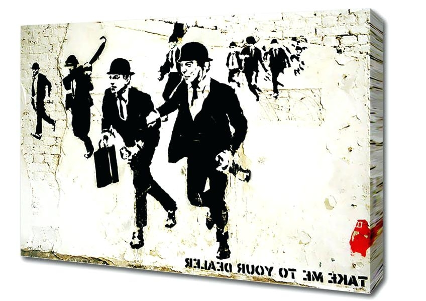 Most Popular Banksy Canvas Wall Art Canvas Wall Art Cheap As Chips Inside Banksy Canvas Wall Art (View 10 of 15)