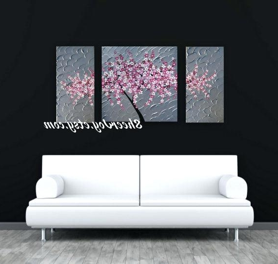 Most Popular Blossom White 3D Wall Art With Blossom Wall Art Wall Decor Wall Art Canvas Wall Art Design Ideas (View 10 of 15)