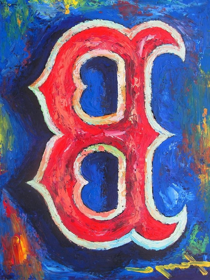Most Popular Boston Red Sox Wall Art With Boston Red Sox Baseball Paintingdan Haraga (View 6 of 15)