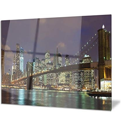 Most Popular Brooklyn Bridge Metal Wall Art Pertaining To Brooklyn Bridge Panoramic View – Cityscape Photo Metal Wall Art (View 9 of 15)