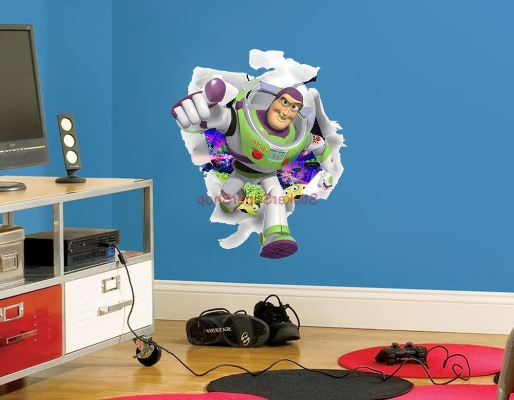 Most Popular Buzz Lightyear Toy Story Decal Removable Wall Sticker Art Home Decor Throughout Toy Story Wall Stickers (View 10 of 15)