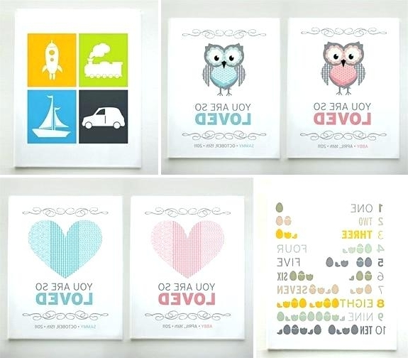 Most Popular Canvas Wall Art For Nursery Canvas Art Prints For Nursery Regarding Canvas Prints For Baby Nursery (View 10 of 15)