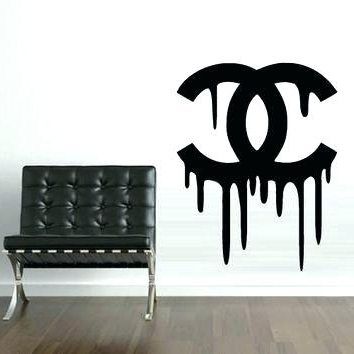 Most Popular Chanel Comforter Set Coco Bedding Set Wall Decals Magnificent Coco With Regard To Coco Chanel Wall Decals (View 12 of 15)