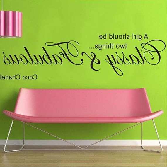 Most Popular Coco Chanel Fashion Lady Fabulous Wall Sticker Wall Paper Wall Art With Regard To Love Coco 3D Vinyl Wall Art (View 4 of 15)
