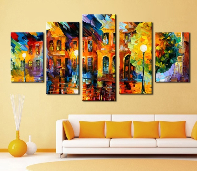 Most Popular Colorful Abstract Wall Art Wall Art Hot Sell 5 Piece Wall Art Sets Pertaining To Colorful Abstract Wall Art (View 6 of 15)
