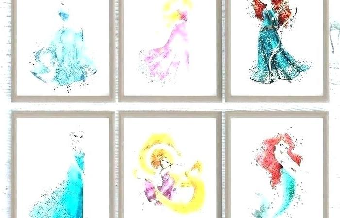 Most Popular Disney Princess Framed Wall Art Within Disney Princess Wall Art – Cascoalnic (View 9 of 15)