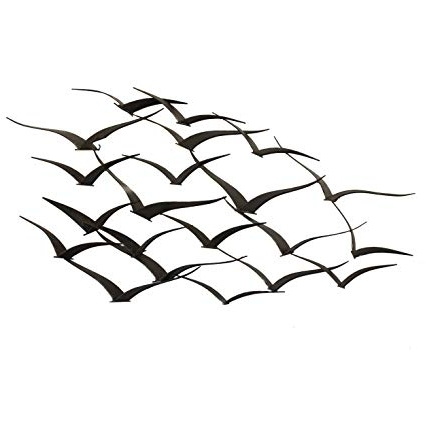 Most Popular Flock Of Birds Metal Wall Art with regard to Amazon: Urban Designs Handcrafted Flock Of Birds Metal Wall Art