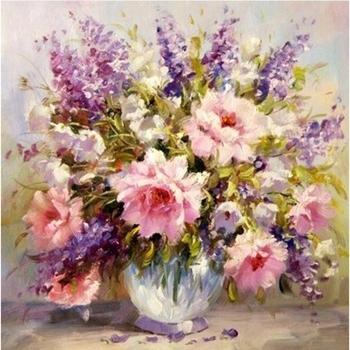 Most Popular Flowers 3D Wall Art Regarding Famous Artwork Flower Photos 3D Wall Art Diy Oil Painting – Buy 3D (View 14 of 15)