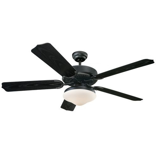 """Most Popular Found It At Wayfair – 52"""" Dayton 5 Blade Indoor/outdoor Ceiling Fan Intended For Wayfair Outdoor Ceiling Fans (View 15 of 15)"""