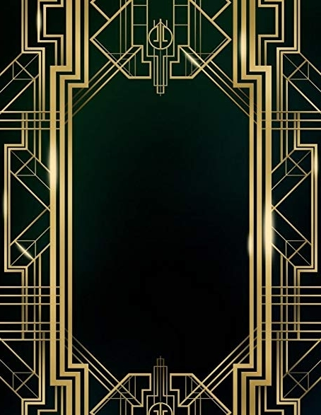 Most Popular Great Gatsby Wall Art Within Amazon: Wallmonkeys Wm368168 Great Gatsby Art Deco Background (View 11 of 15)
