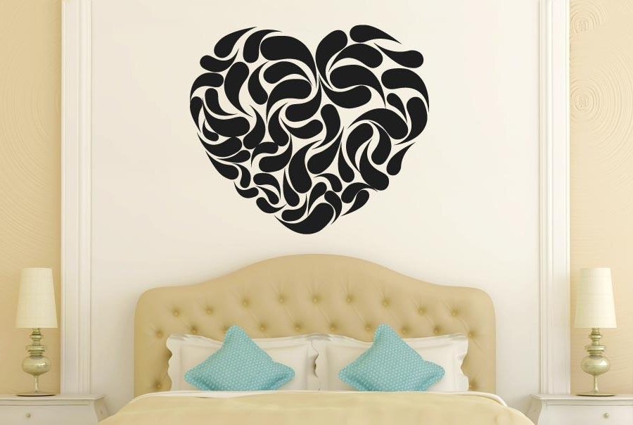 Most Popular Heart Shape Abstract Wall Stickers Uk Wall Art Stickers Wall Decals Inside Abstract Art Wall Decal (View 10 of 15)