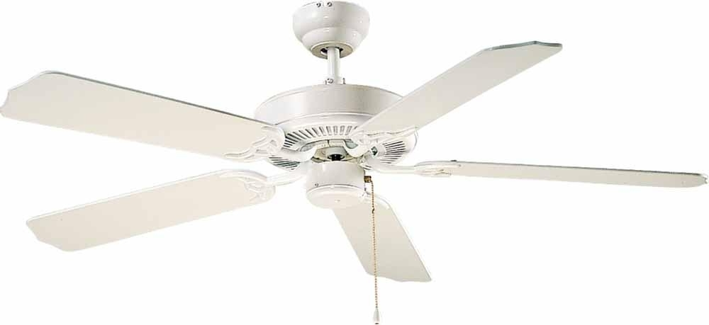 Most Popular High Volume Outdoor Ceiling Fans With Regard To White Outdoor Ceiling Fan : V5953  (View 10 of 15)