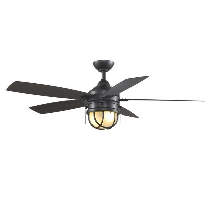 Most Popular Indoor Outdoor Ceiling Fans With Lights And Remote Inside Amazing Black Outdoor Ceiling Fan With Light 96 Best Fandelier Image (View 9 of 15)