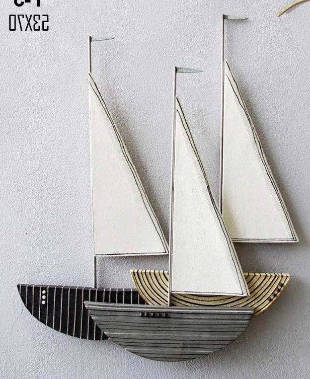 Most Popular Large Ceramic Wall Art For Large Ceramic Sailboat Wall Art 3D Sculpture Contemporary Wall Art (View 8 of 15)
