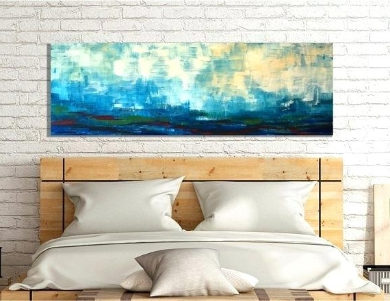 Most Popular Large Horizontal Wall Art Pertaining To Horizontal Wall Decor Large Scale Landscape Painting Wall Art (View 2 of 15)