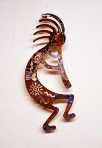 "Most Popular Lazart 8"" Story Kokopelli Metal Wall Art – Elaine's Of Old Town Intended For Kokopelli Metal Wall Art (View 12 of 15)"
