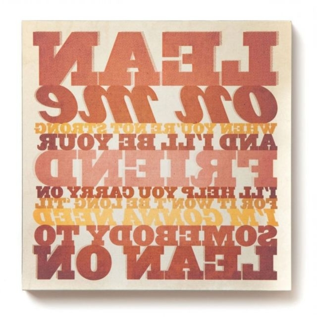 Most Popular Lyricology Wall Art Walking On Sunshine Music Chic Wooden Canvas 30 In Lyricology Wall Art (View 11 of 15)