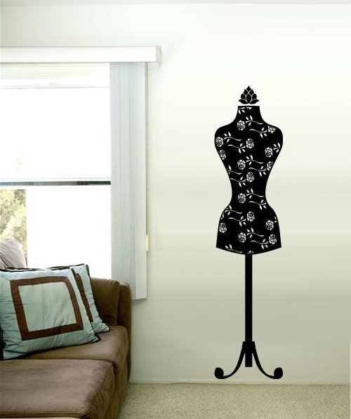 Most Popular Mannequin Wall Art Within Mannequin Vinyl Wall Art Decal Sticker Classic In Wall Stickers From (View 11 of 15)