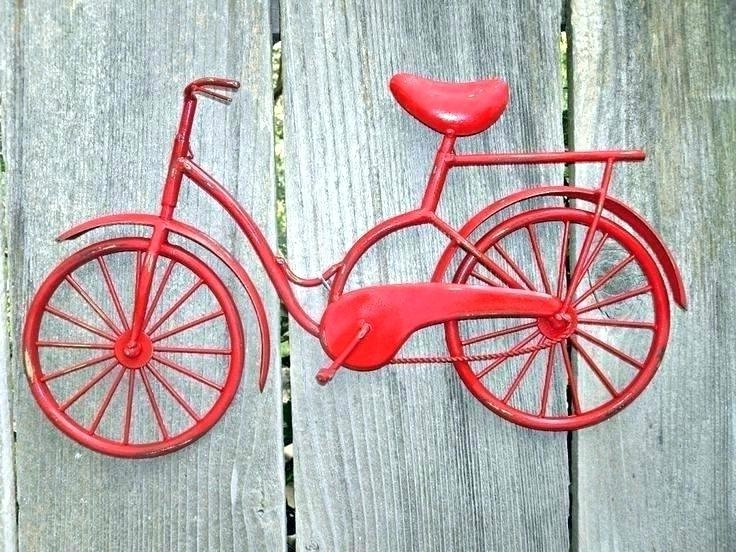 Most Popular Metal Bicycle Wall Art Decor Perfect Ideas Red Penny Farthing Pertaining To Bicycle Wall Art Decor (View 11 of 15)