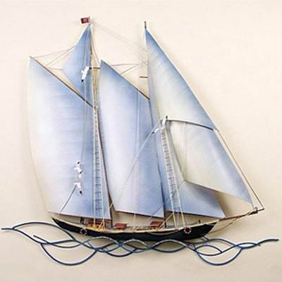 Featured Photo of Metal Sailboat Wall Art
