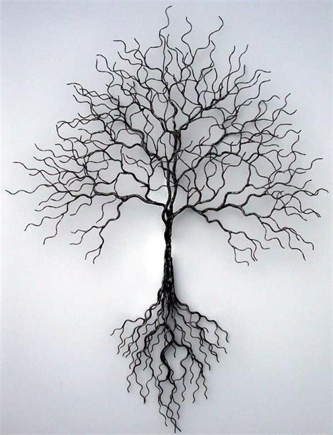 Most Popular Metal Tree Wall Art Sculpture Within Handmade Metal Tree Sculpture Welded Art Metal Tree, Metal Tree (View 4 of 15)