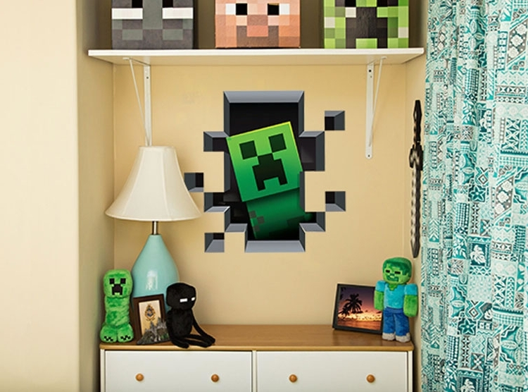 Most Popular Minecraft 3D Wall Art Throughout Minecraft 3D Wall Art Creates A Portal To Mine More Gold (View 2 of 15)