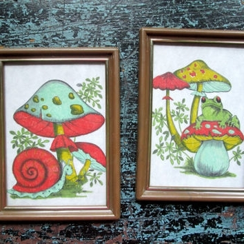Most Popular Mushroom Wall Art With Regard To Best Mushroom Wall Decor Products On Wanelo (View 3 of 15)