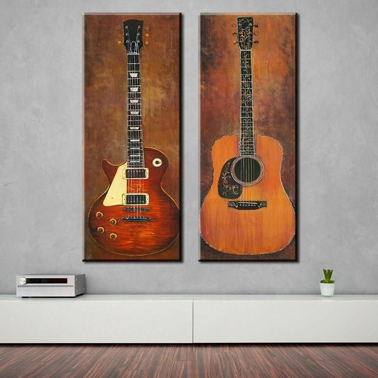 "Most Popular Music Studio Guitar"" Canvas Wall Art (View 12 of 15)"