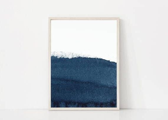 Most Popular Navy Printable. Dark Blue Art Print. Navy Print (View 5 of 15)