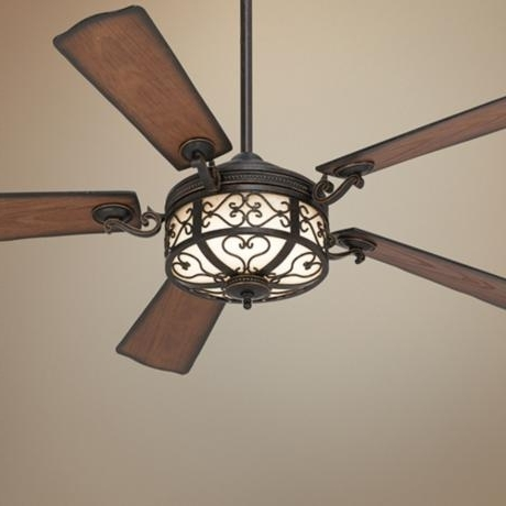 Most Popular Outdoor Ceiling Fans With Lantern Regarding 54 Hermitage Golden Forged Outdoor Ceiling Fan Fans Awesome Lantern (View 15 of 15)