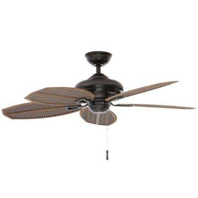 Most Popular Outdoor – Ceiling Fans Without Lights – Ceiling Fans – The Home Depot Intended For Outdoor Ceiling Fans Without Lights (View 8 of 15)