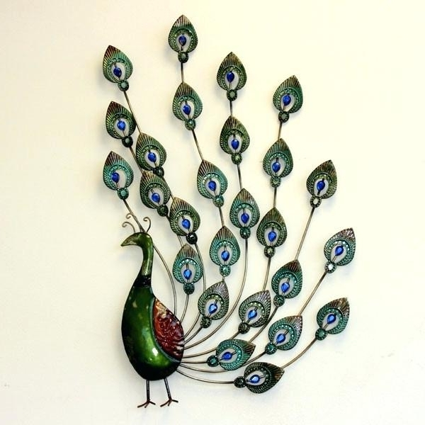 Most Popular Peacock Metal Wall Art With Regard To Peacock Wall Art Metal Metal Peacock Wall Art Brilliant Peacock (View 12 of 15)
