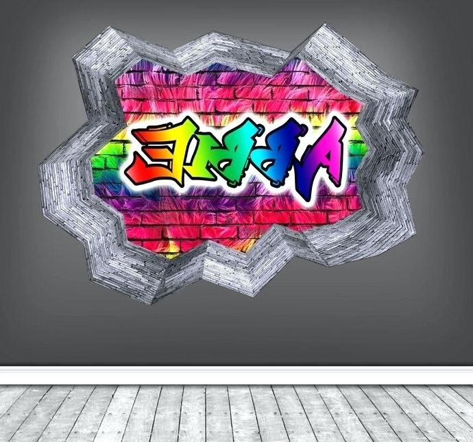 Most Popular Personalized Graffiti Wall Art With Regard To Personalized Graffiti Wall Decals With Personalised Custom Graffiti (View 10 of 15)