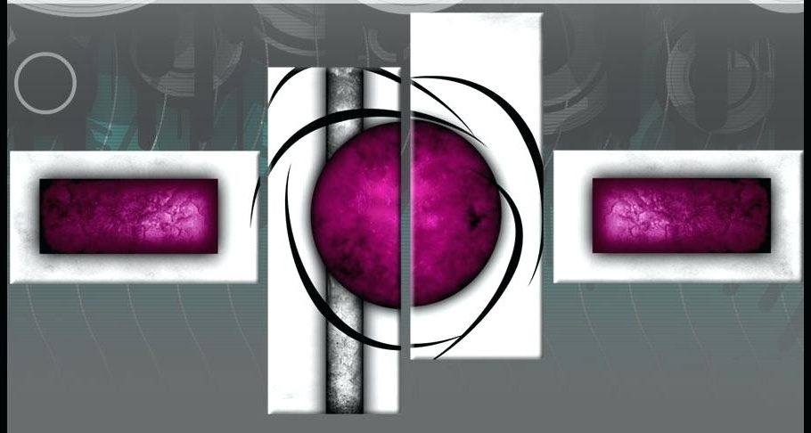 Most Popular Plum Wall Art For Plum Coloured Wall Art White Plum Purple Circle Wide Stretch 4 Panel (View 5 of 15)