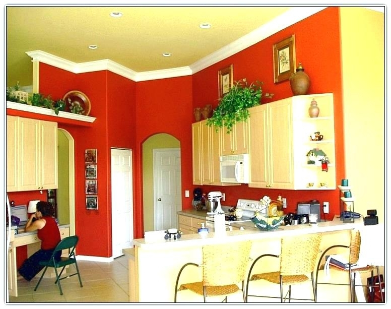 Most Popular Red And Yellow Wall Art Pertaining To Red And Yellow Wall Art Red Kitchen Cabinets With Yellow Walls (View 5 of 15)