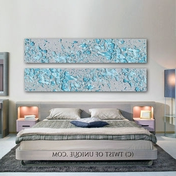 Most Popular Shop Blue And Silver Abstract Painting On Wanelo Pertaining To Blue And Silver Wall Art (View 7 of 15)