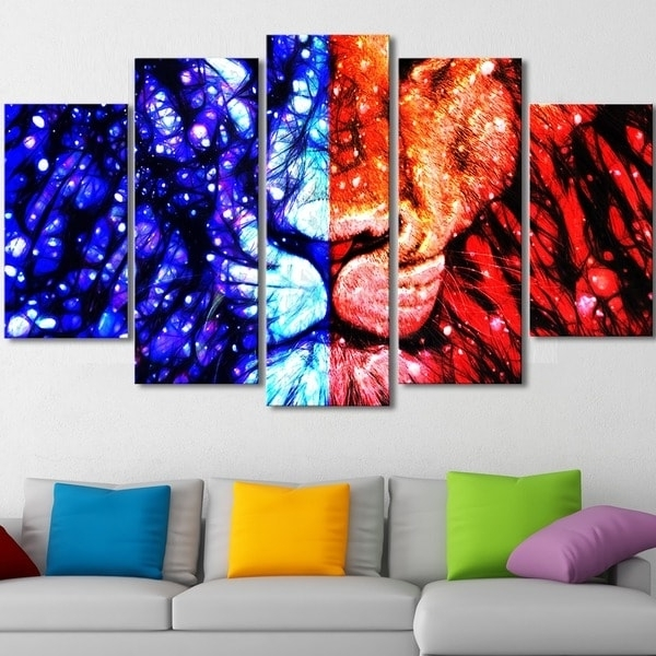 Most Popular Shop King Of The Jungle' Canvas Wall Art – On Sale – Free Shipping With Regard To Jungle Canvas Wall Art (View 12 of 15)