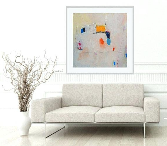 Most Popular Sofa Size Wall Art Abstract Artwork Custom Size Print Of Modern Throughout Sofa Size Wall Art (View 11 of 15)