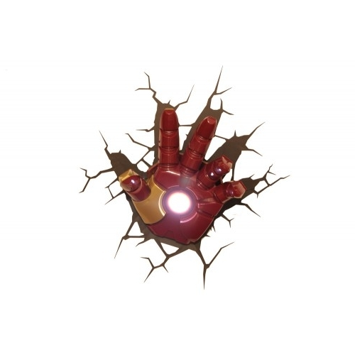 Most Popular The Avengers 3D Wall Art Nightlight – Iron Man Hand Regarding Iron Man 3D Wall Art (View 12 of 15)