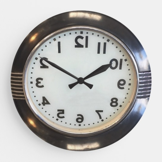 Most Popular Vintage 1930's Style Art Deco Wall Clock (View 3 of 15)