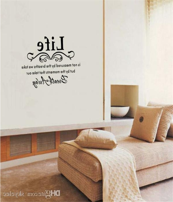 Most Popular Wall Stickers Black Family Diy Removable Art Vinyl Quote Wall For 3D Wall Art Words (View 10 of 15)