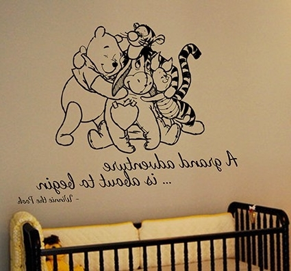 Most Popular Winnie The Pooh Website Inspiration Winnie The Pooh Wall Decal Regarding Winnie The Pooh Wall Art (View 6 of 15)