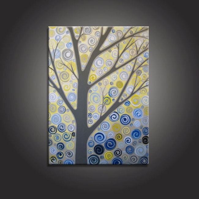 Most Popular Yellow And Blue Wall Art Intended For Wall Art Yellow And Blue – Home Design And Wall Decoration Ideas (View 8 of 15)