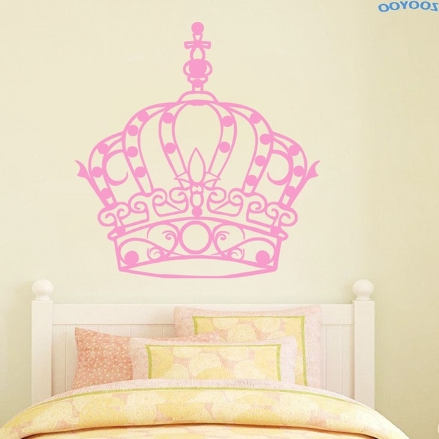 Most Popular Zooyoo Beautiful Princess Crown Wall Sticker Art Murals Home Decor With Regard To Princess Crown Wall Art (View 4 of 15)