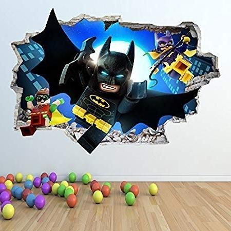 Most Recent 1Stop Graphics Shop Lego Batman Wall Sticker 3D Look – Boys Girls With Regard To Batman 3D Wall Art (View 10 of 15)