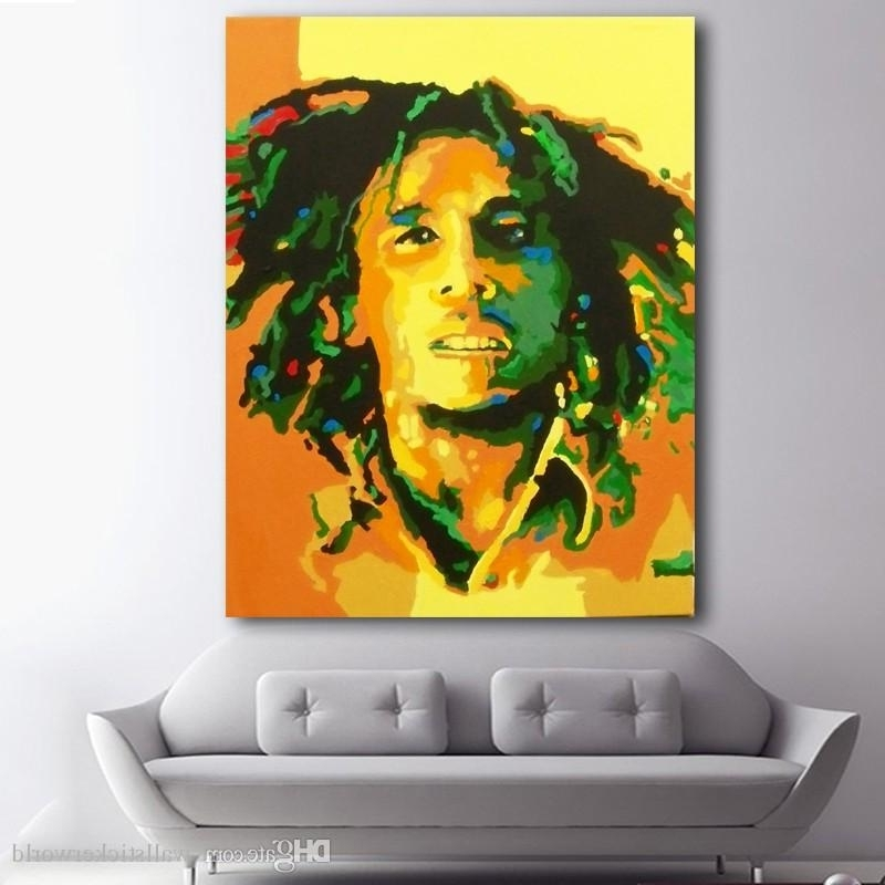 Most Recent 2018 1 Panel Abstract Portrait Oil Painting Bob Marley Canvas with Bob Marley Canvas Wall Art