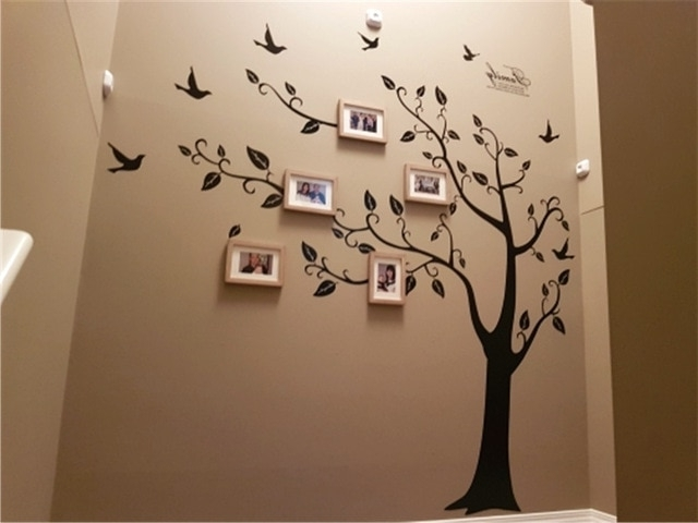 Most Recent 3D Tree Wall Art Pertaining To Family Large Photo Tree Wall Art Sticker 250X200Cm Pvc 3D Decals (View 11 of 15)
