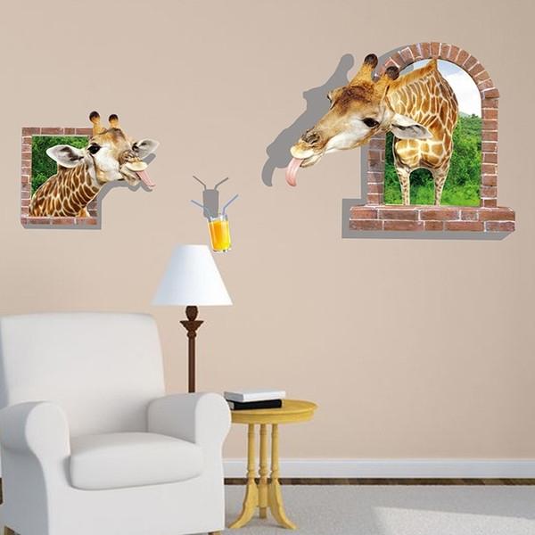 Most Recent 3D Visual Wall Art Inside Pvc 3D Visual Effects Shark Wall Art Stickers Decor 8 Kinds Of (View 6 of 15)